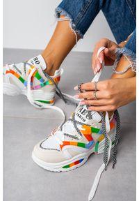 Casu - Beżowe buty sportowe sneakersy sznurowane casu 20g5/w. Kolor: beżowy