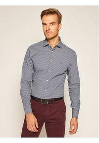 Tommy Hilfiger Tailored Koszula Print Classic TT0TT07733 Niebieski Slim Fit. Kolor: niebieski. Wzór: nadruk