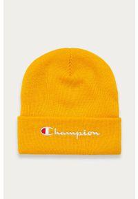 Żółta czapka Champion z aplikacjami