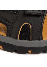 Czarne sandały skechers na lato, klasyczne