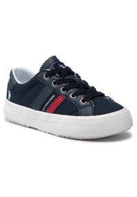 U.S. Polo Assn - Sneakersy U.S. POLO ASSN. - Matry154 MATRY4154S1/CY1 Dkbl. Okazja: na co dzień. Kolor: niebieski. Materiał: materiał, skóra. Szerokość cholewki: normalna. Styl: casual