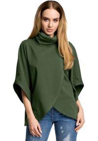 Zielona bluzka MOE z golfem
