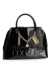 Czarna torebka klasyczna Versace Jeans Couture klasyczna, skórzana