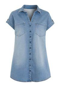 Niebieska koszula Cellbes z krótkim rękawem, krótka