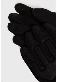 Viking - Rękawiczki. Kolor: czarny. Materiał: tkanina. Wzór: gładki