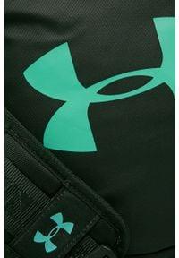 Zielona torba podróżna Under Armour z nadrukiem