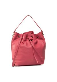 Różowa torebka worek Coccinelle casualowa