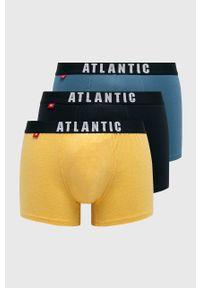 Żółte majtki Atlantic z nadrukiem