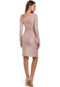 Sukienka na imprezę ołówkowa, z długim rękawem, midi
