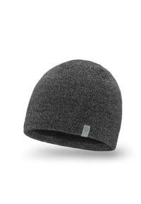 Zimowa czapka męska PaMaMi - Ciemnoszara mulina. Kolor: szary. Materiał: akryl. Sezon: zima. Styl: młodzieżowy, klasyczny