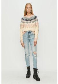 Różowy sweter only długi, z długim rękawem #5