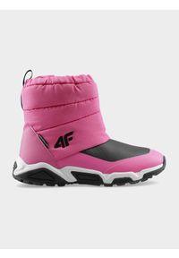 Różowe buty zimowe 4f na zimę, na zamek