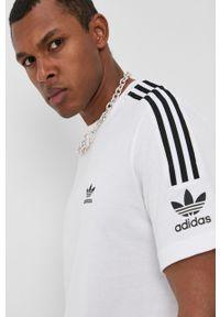 adidas Originals - Adidas Originals - T-shirt bawełniany. Okazja: na co dzień. Kolor: biały. Materiał: bawełna. Wzór: nadruk. Styl: casual