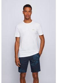 BOSS - Boss - T-shirt Boss Athleisure. Okazja: na co dzień. Kolor: biały. Materiał: dzianina. Wzór: gładki. Styl: casual