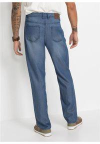"Dżinsy Regular Fit Straight, TENCEL™ z lnem bonprix niebieski ""stone"". Kolor: niebieski"