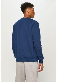 Niebieska bluza nierozpinana Prosto. z nadrukiem, bez kaptura
