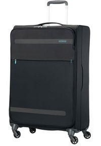 Czarna walizka AMERICAN TOURISTER w kolorowe wzory, sportowa