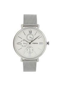 Fossil - Zegarek FOSSIL - Jacqueline ES5099 Silver. Kolor: srebrny. Materiał: materiał. Styl: biznesowy, vintage