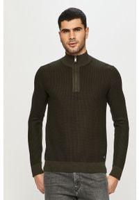 Brązowy sweter Marc O'Polo casualowy, polo