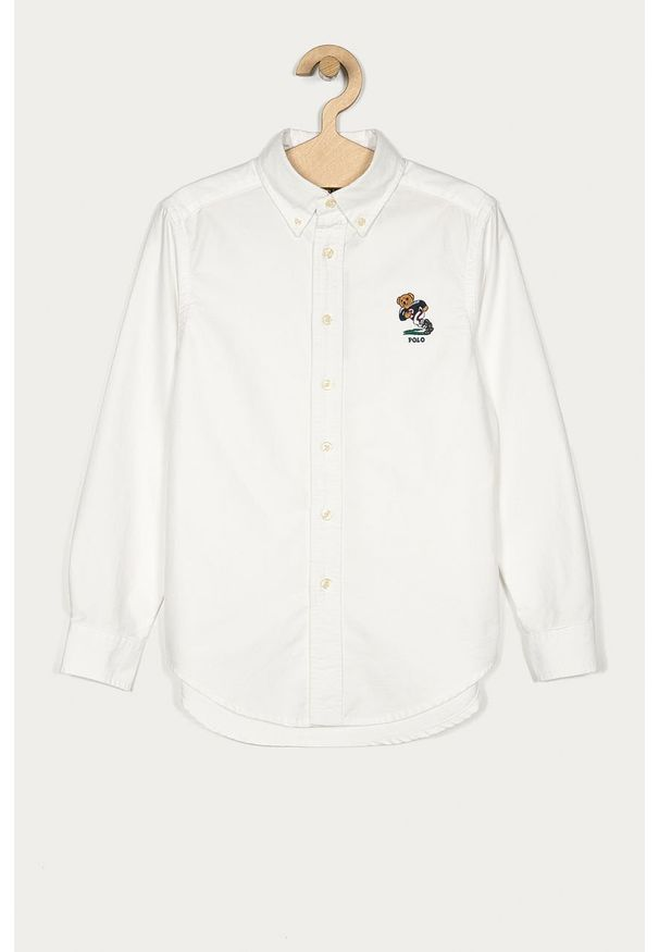 Biała koszula Polo Ralph Lauren z aplikacjami, button down
