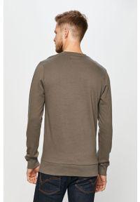 Szara bluza nierozpinana PRODUKT by Jack & Jones na co dzień, z nadrukiem, bez kaptura, casualowa