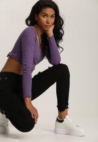 Renee - Czarne Spodnie Skinny Rhethithea. Kolor: czarny