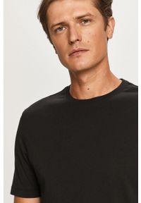 Czarny t-shirt Strellson casualowy, na co dzień