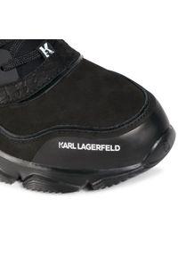 Karl Lagerfeld - Sneakersy KARL LAGERFELD - KL51623 Black Nubuck Mono. Okazja: na co dzień. Kolor: czarny. Materiał: skóra ekologiczna, materiał, nubuk. Szerokość cholewki: normalna. Styl: sportowy, casual