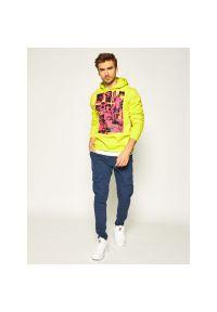 Bluza HUF Where Is My Mind PF00215. Kolor: żółty. Materiał: bawełna, poliester