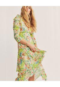 LOVE SHACK FANCY - Sukienka midi w kwiaty Salima. Kolor: biały. Materiał: bawełna, jedwab, koronka. Wzór: kwiaty. Długość: midi