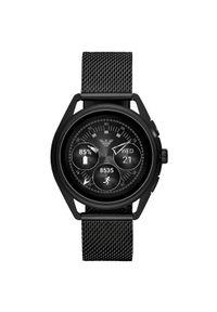 Czarny zegarek Emporio Armani smartwatch