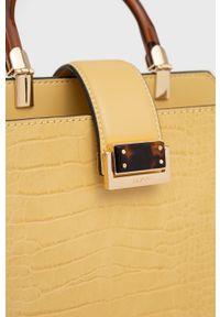 Aldo - Torebka Novaria. Kolor: żółty. Rodzaj torebki: na ramię