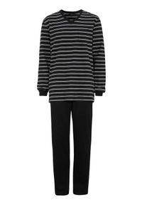 Cellbes Pidżama Czarny w paski male czarny/ze wzorem S. Kolor: czarny. Materiał: guma. Długość: długie. Wzór: paski
