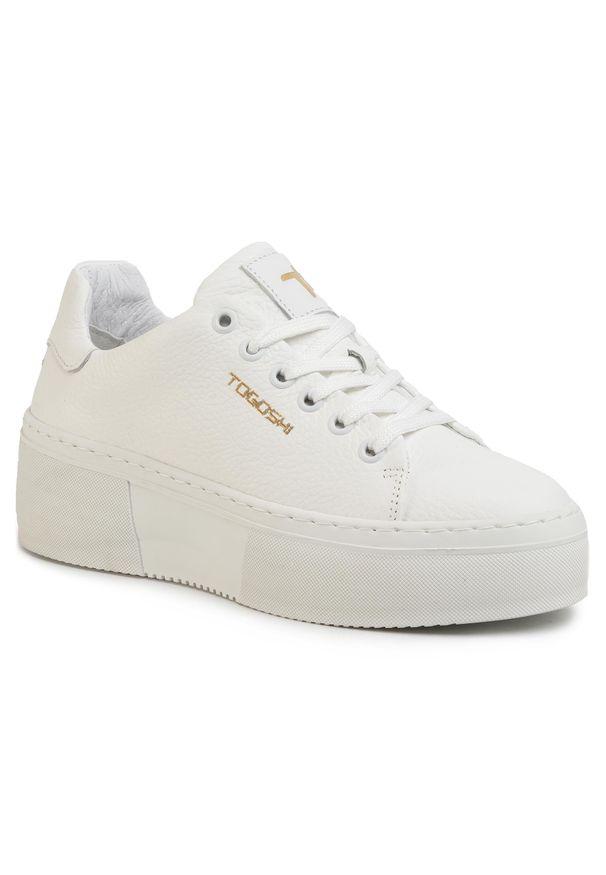 Białe buty sportowe Togoshi z cholewką