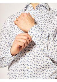 Strellson Koszula Sereno 30020147 Biały Slim Fit. Kolor: biały