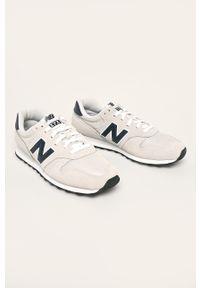 Białe sneakersy New Balance z cholewką, na sznurówki