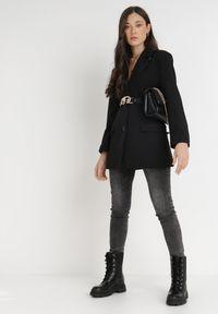 Born2be - Czarna Marynarka Pentherine. Kolor: czarny. Długość: długie. Styl: wizytowy, elegancki #4