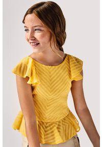 Pomarańczowa bluzka Mayoral elegancka, gładkie