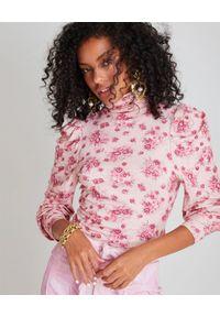 LOVE SHACK FANCY - Bluzka w kwiaty Vienna. Typ kołnierza: golf. Kolor: różowy, wielokolorowy, fioletowy. Materiał: jeans, materiał, wełna. Wzór: kwiaty. Sezon: jesień, wiosna