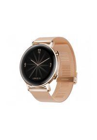 HUAWEI - Smartwatch Huawei Watch GT 2 42mm Elegant złoty. Rodzaj zegarka: smartwatch. Kolor: złoty. Styl: sportowy
