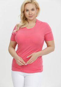 Born2be - Różowy T-shirt Euphosi. Kolor: różowy