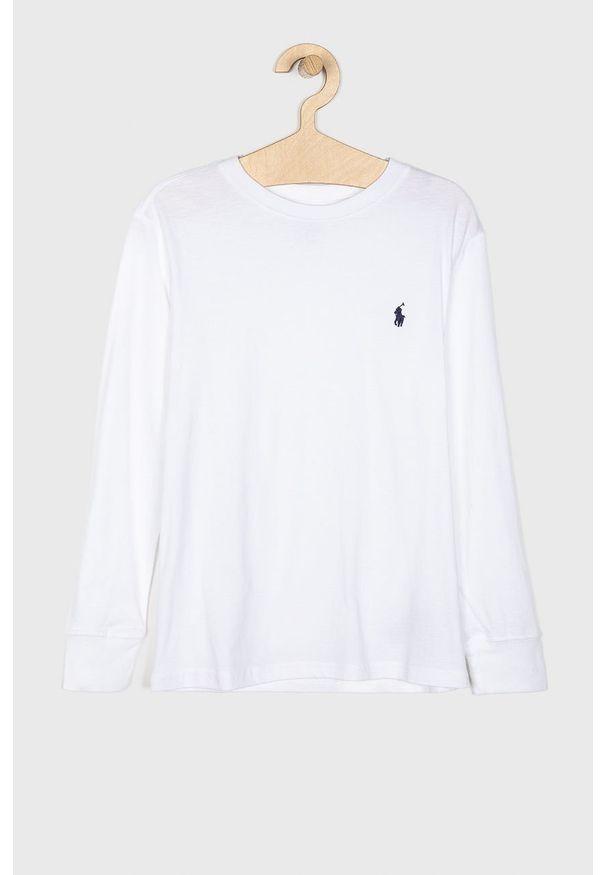 Biała koszulka z długim rękawem Polo Ralph Lauren casualowa, polo, na co dzień