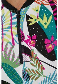 medicine - Medicine - Sukienka Abstract Garden. Kolor: turkusowy. Materiał: tkanina. Długość rękawa: krótki rękaw