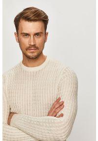 Biały sweter Brave Soul casualowy, z długim rękawem, długi