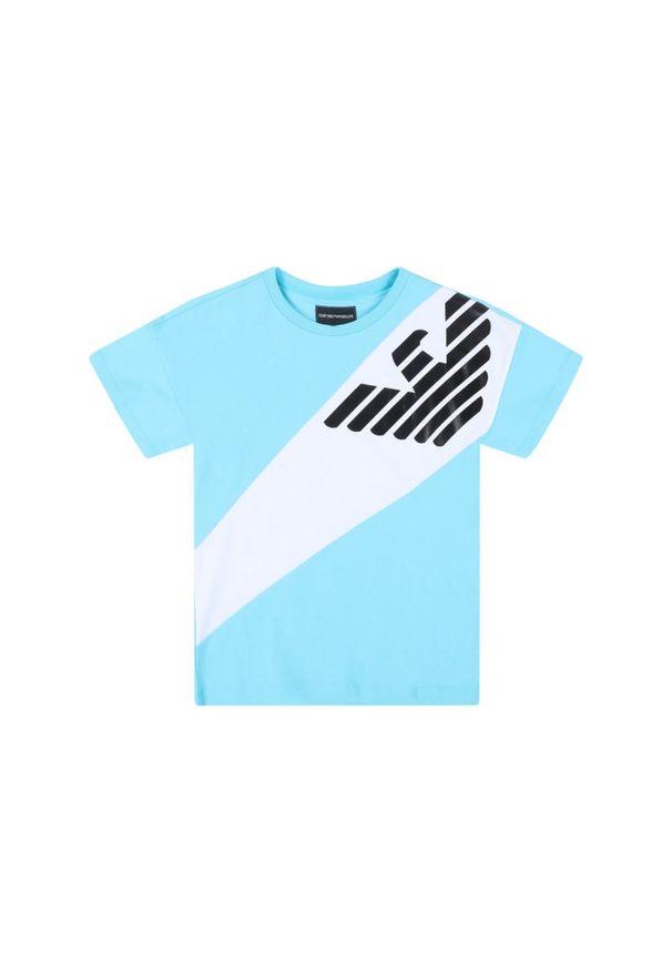Niebieski t-shirt Emporio Armani