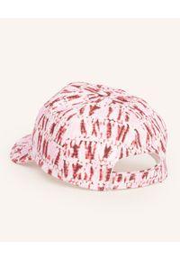 ISABEL MARANT - Czerwona czapka tie-dye Tyron. Kolor: czerwony. Materiał: bawełna, jeans. Styl: casual