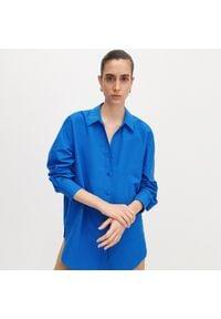 Reserved - Koszula oversize - Niebieski. Kolor: niebieski
