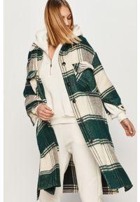 Zielony płaszcz Answear Lab bez kaptura, wakacyjny, na co dzień