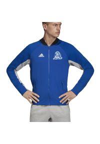 Bluza Adidas z długim rękawem, długa, z klasycznym kołnierzykiem, klasyczna