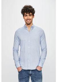 Niebieska koszula Tom Tailor Denim na co dzień, długa, button down